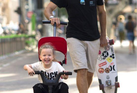 三輪車でこどもの腸腰筋を鍛えて身体能力の向上を促進